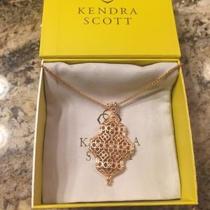Kendra Scott Kathy Adjustable Necklace Rose Gold